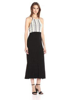 Kensie Women's Crochet Sleeveless Spandex Mixi Dress  L