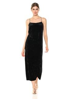 Kensie Women's Crushed Velvet Slip Maxi Dress  S