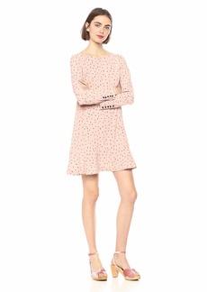 kensie Women's Dainty Animal Print Dropwaist Dress  M
