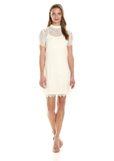 Kensie Women's Dainty Lace Dress  L