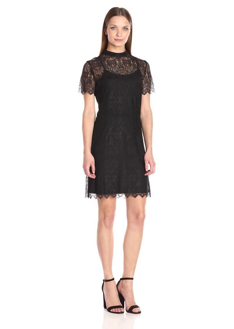 kensie Women's Dainty Lace Dress  XS