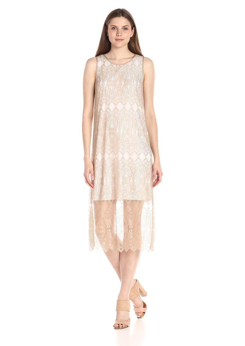 Kensie Women's Dainty Lace Midi Dress