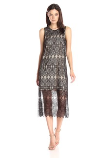 Kensie Women's Dainty Lace Midi Dress