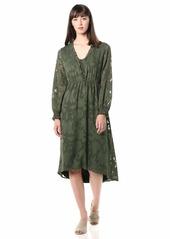 kensie Women's Delicate Burn-Out Midi Dress