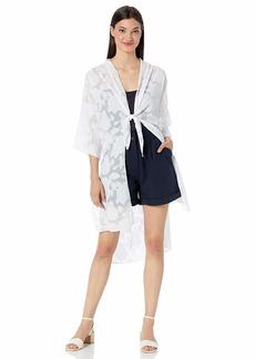 kensie Women's Delicate Burnout Kimono  S