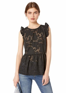 kensie Women's Delicate Burnout Top  M