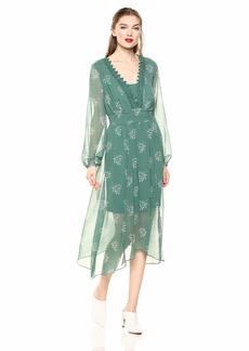 kensie Women's Delicate Sprig Dress  S