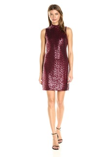 Kensie Women's Dense Sequin Jersey Dress  L
