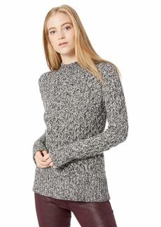 kensie Women's Diamond Knit Cutout Sweater  S