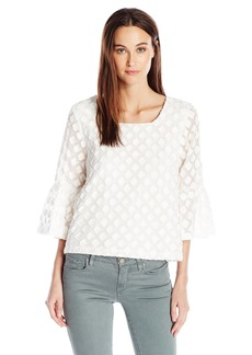 kensie Women's Diamond Organza Top  XS