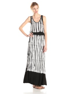 Kensie Women's Dip Dyed Tie Dye Vertebrae Maxi Dress
