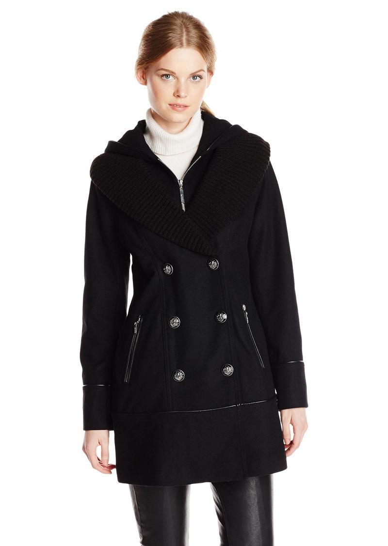 kensie Women's Double Breasted Hooded Coat