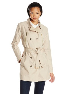 Kensie Women's Double Breasted Trench Coat