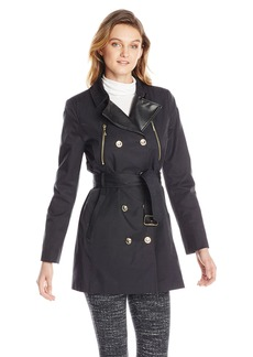 Kensie Women's Double Breasted Trench Coat  arge