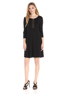 kensie Women's Drapey French Terry Dress  M
