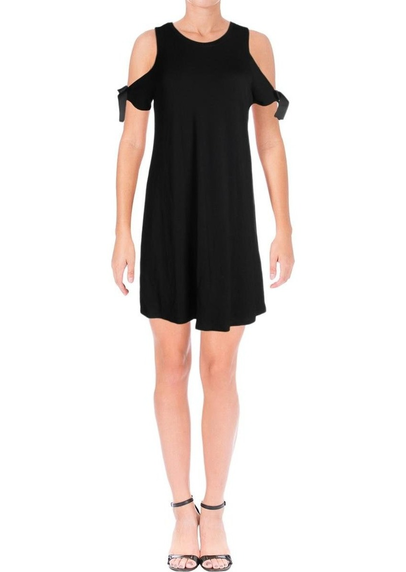 kensie Women's Drapey French Terry Dress with Cold Should  M