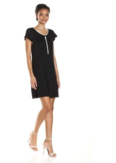 kensie Women's Drapey French Terry Dress  XS