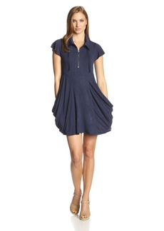 Kensie Women's Drapey French Terry Short Sleeve Dress