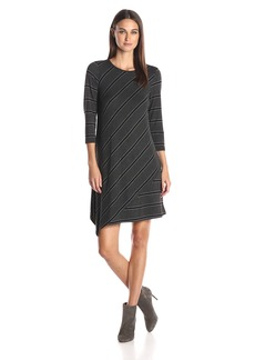 Kensie Women's Drapey French Terry Stripe Dress