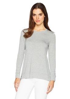 Kensie Women's Drapey French Terry Tie Back Sweatshirt  L