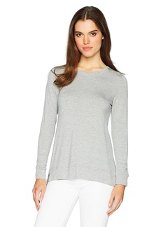 kensie Women's Drapey French Terry Tie Back Sweatshirt  XS
