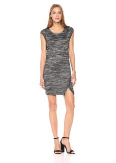 kensie Women's Drapey Space Dye Cap Sleeve Dress  M