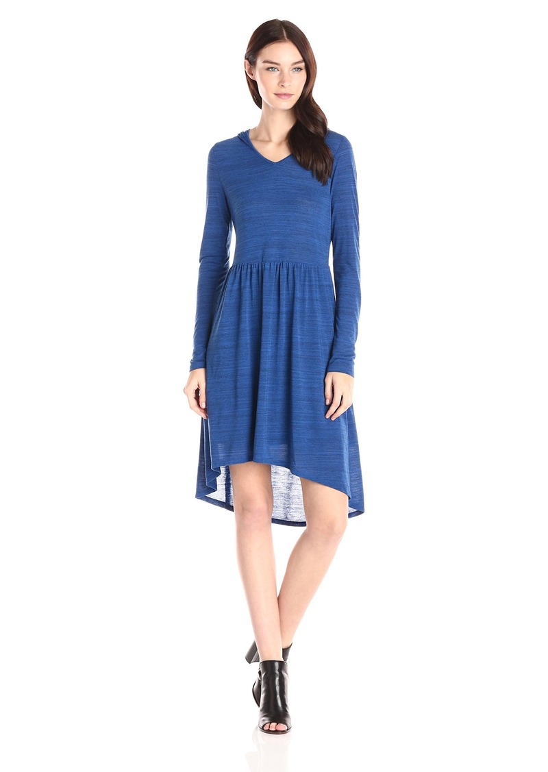 kensie Women's Drapey pace Dye Jersey Long leeve Hooded Dress  mall