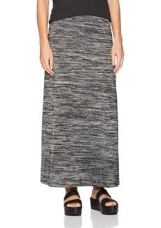 kensie Women's Drapey Space Dye Maxi Skirt  L