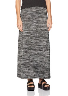 kensie Women's Drapey Space Dye Maxi Skirt  L