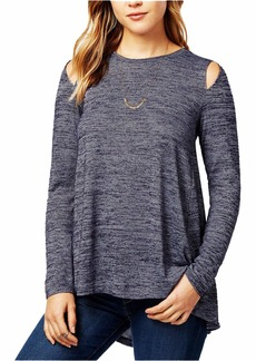 kensie Women's Drapey Space Dye Top  M