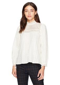 Kensie Women's Embroidered Cotton Top  XL