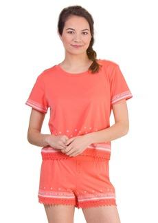 kensie Women's Embroidered Pajama Set  L