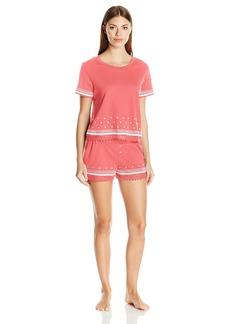 Kensie Women's Embroidered Pajama Set  M
