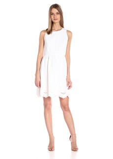 Kensie Women's Embroidered Scallop Dress