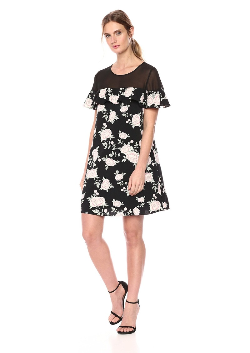 kensie Women's English Roses Dress  L