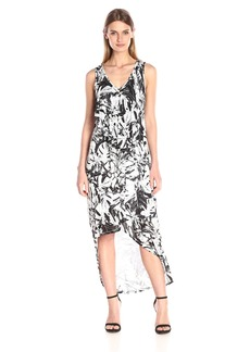 Kensie Women's Exotic Leaves Print Maxi Dress