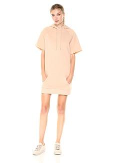 Kensie Women's Faded Fleece Sweatshirt Hoodie Dress  M