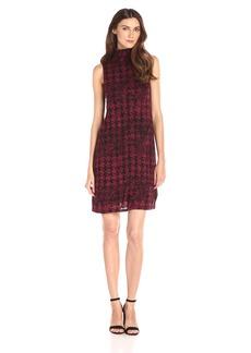 Kensie Women's Faded Herringbone Dress