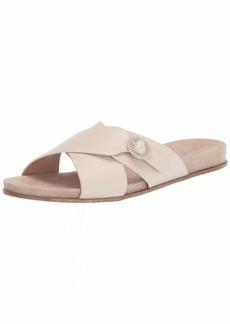kensie Women's Flat Slide Sandal White