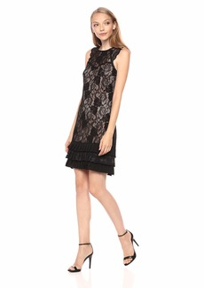 kensie Women's  Floral LACE Flapper Dress
