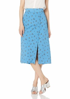 kensie Women's Forget Me Not Floral Skirt  L