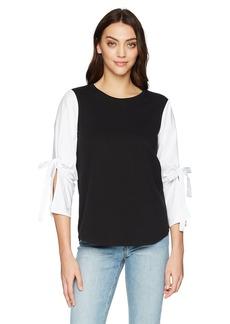 kensie Women's French Terry Sweatshirt  L