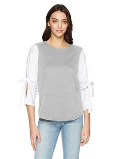 kensie Women's French Terry Sweatshirt  XL