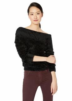 kensie Women's Furry Off The Shoulder Sweater  XS