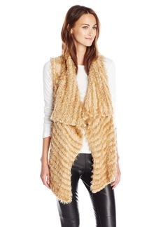 Kensie Women's Furry Stripe Vest  edium