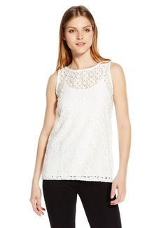 Kensie Women's Geo Stretch Lace Top