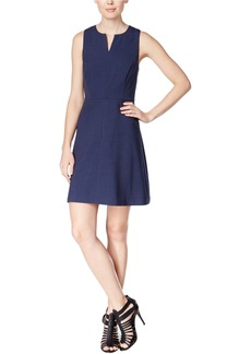 kensie Women's Heather Stretch Crepe Dress Navy M