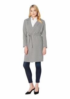 kensie Women's Houndstooth Trench Coat  M