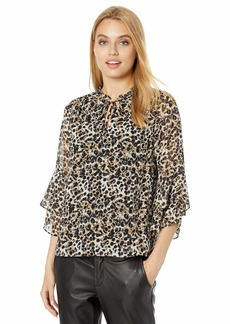 kensie Women's Ink Splotch Top