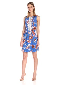 Kensie Women's Japanese Garden Dress